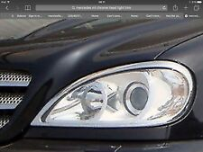 MERCEDES ML W163 CHROME ABS HEAD LIGHT TRIM,1998-05.