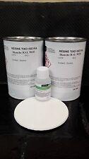 2 kg Résine polyester ISO BLANCHE RAL 9010 avec 60 ML CATALYSEUR PMEC