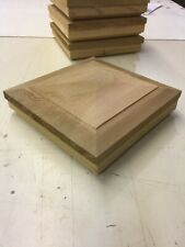 cedar fence post caps , new fits 6 1/4 x 6 1/4 posts qty 4 ( 30 available )
