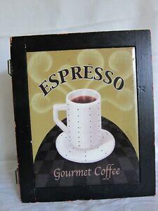 Wall shelf cupboard decorative Espresso Coffee