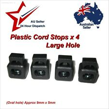 Toggle Lock Square Cord Stoppers x 4 Large Single Hole 9x5mm  paracord cord stop