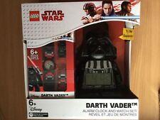 Lego Star Wars Darth Vader Alarm Clock & Watch Set. Brand New In Box.