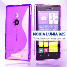 Premium PURPLE S CURVE GEL TPU Jelly CASE COVER FOR Nokia Lumia 925