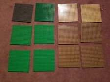 Lego Plate Lot Of 12 Assorted Colors