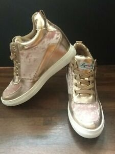 LADIES LLOYD & PRYCE TOMMY BOWE FOR HER Pink and Gold TRAINERS SIZE 8 Worn Once