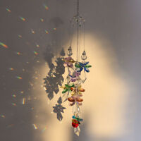 Rainbow Crystal Suncatcher Angel Pendant Wind Chime Shape Hanging Ornament