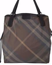940f05777521 Burberry Buckleigh Packable Tote Birch Grey Check Nylon Bag Purse Handbag