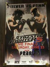 TUF ULTIMATE FIGHTER 5 UFC SIGNED FULL CARD FIGHT POSTER  NATE DIAZ BJ PENN