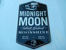 Midnight Moon Moonshine Sign--Junior Johnson