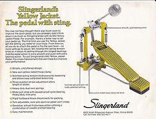 VINTAGE AD SHEET #2175 - 1977 SLINGERLAND YELLOW JACKET DRUM FOOT PEDAL