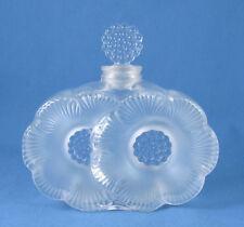 """Vintage Lalique """"Deux Fleurs"""" Perfume Bottle~Signed~Authentic~The Perfect Gift"""