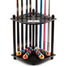 Corner-Style Floor Stand 8 Billiard Pool Cue Rack Holder with Score Counters
