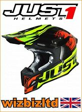 Just1 MX casco j12 carbon - DOMINATOR NEON lime-red - XL jus105xl