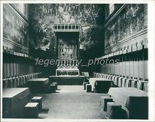 1939 Room Where New Pope is Decided Original News Service Photo
