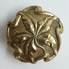 Bouton ancien - Métal doré - 28mm - Art Nouveau - Fin XIXe / Début XXe - Button