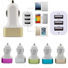 Triple USB Universal Car Charger Adapter 3 Port 2A 2.1A 1A For Cell Phone