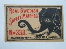 Vintage Matchbox Label Real Swedish Safety Matches No.333  fc68c