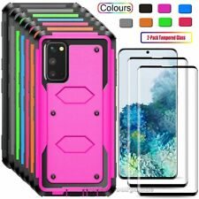 for Samsung Galaxy S20 Ultra S20+ Plus Shockproof Hard Case Cover Tempered Glass