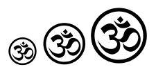 Ohm Om Spirituel Autocollant Sticker De Voiture 3 Pièces