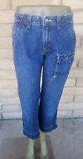 "LUCKY BRAND Straight Leg Wide Hem Capri Crop Mid Rise Jeans Size 4/27 x 25"" EUC"