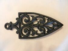 Black Metal Clothes Iron Trivet or Wall Hanging