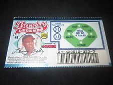 1999 Ohio RARE Sample Lottery Ticket of Larry Doby of the Cleveland Indians