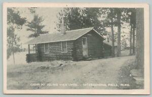International Falls Minnesota~Cabin At Island View Lodge~c1905 Postcard