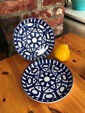 """Set of 2 - 8"""" Dansk Arabesque Blue & White Plates"""
