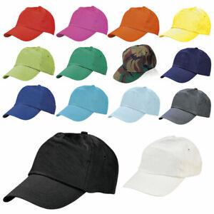 Mens Womens Plain Cotton Baseball Cap Adjustable Peak Sport Summer Printing Caps