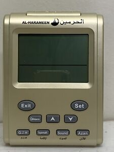 Digital Automatic Table Azan Clock Prayer Times Mosque And Home New Gold Colour