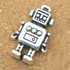 30x retro style Robot charms,3D robot charm,cute charms for DIY,silver color