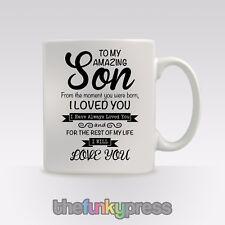 Personalised Amazing Son Mug Cup Tea Coffee Birthday Christmas Gift
