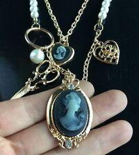 gold Scissors beauty Heart Pendant Necklace Beautiful Long Necklaces New Fashion