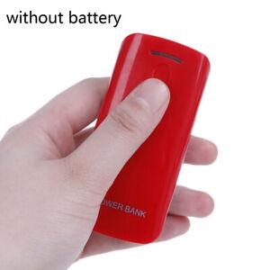 DIY power bank case 2x 18650 battery charger external box wth LED flashlight