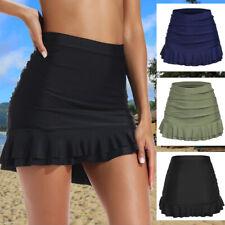Women High Waist Swim Skirt Bikini Bottom Swimwear Summer Beach Brief Bottoms