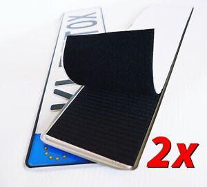 2x Kennzeichenhalter Rahmenlos Klett Nummernschildhalter KLETTOX