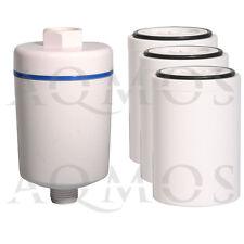 1 Duschfilter Weiß + 3 Wechselfilter Kalkfilter Allergie Reisefilter Chlor Rost