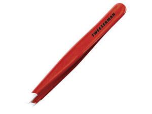 Tweezerman Slant Tweezer 1230-RP Signature Red for Eyebrow Full Size
