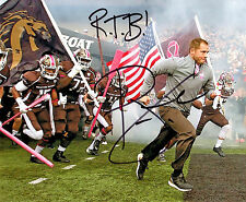 P.J. Fleck Reprinted autographed signed photo Western Michigan ROW THE BOAT PJ