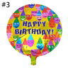 2Pcs Happy Birthday Aluminum Foil Balloons Round Birthday Party Decor Supplies