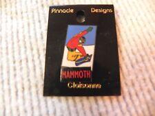 Snowboard Pin Souvenir Lapel Hat Pin Mammoth Ski Resort  new old stock