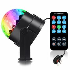 RGB LED Disco Home Party Crystal Magic Ball Stage Effect Light Lamp Remote Laser