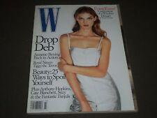 1998 NOVEMBER W MAGAZINE - ANGELA LINDVALL COVER - GREAT FASHION - O 2415