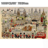 New London Style Educational 1000 Piece Jigsaw Puzzles Adults Kids Puzzle Toy