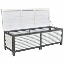 Auflagenbox 140CM Kissenbox Holz Gartentruhe Gartenbox Auflagentruhe Truhe Grau