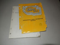 GAME SHOW LOOSE AND TORN COVER PINBALL   arcade game owners manual