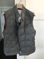 $3380 BRUNELLO CUCINELLI Slim Fit Cashmere Goose Padded Down Vest Jacket Medium