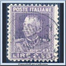 1927 Italia Regno Parmeggiani L. 2,65 violetto n. 217 Usato