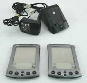 Two Palm m500 Handheld Personal Digital Assistants W/Stylus & Charger