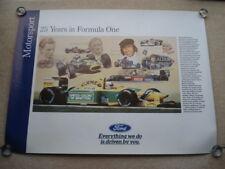 C1992 FORD MOTORSPORT 25 YEARS IN FORMULA ONE ORIGINAL FORD CAR SHOWROOM POSTER